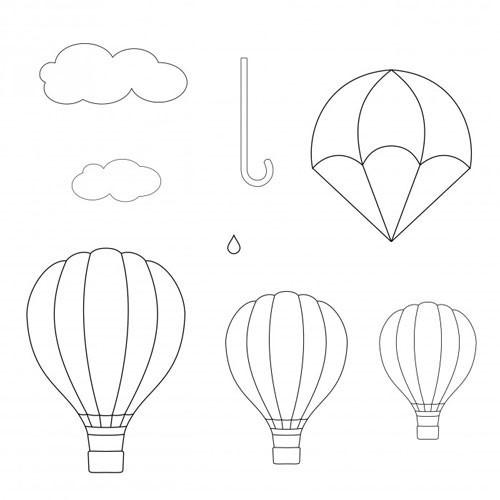 Patchwork Cutters Utstickare Luftballong