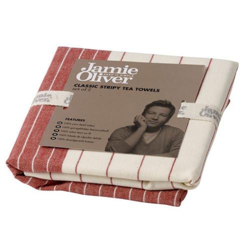 Jamie Oliver Kökshandduk, röd, 2-pack
