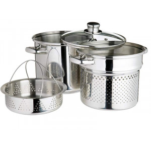 Kitchen Craft Pastagryta - Ångkokare, 4 liter