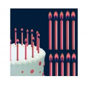 color-flame-candles-pink-wilton
