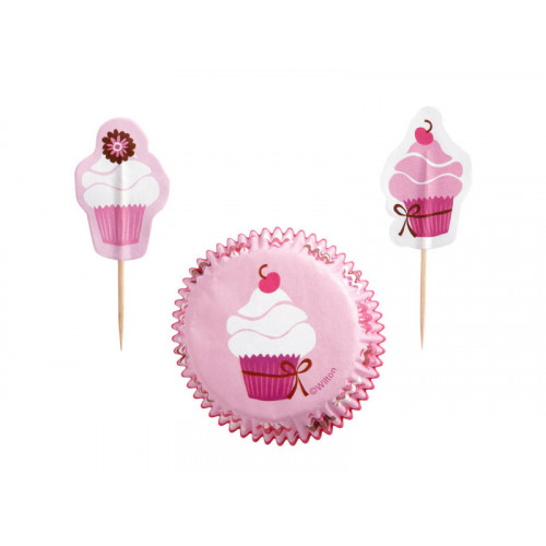 Wilton Muffinsform Pink Party Combo