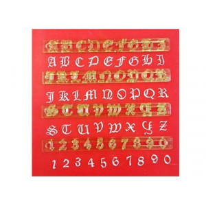 FMM Utstickare Alphabet & Numbers, Old English