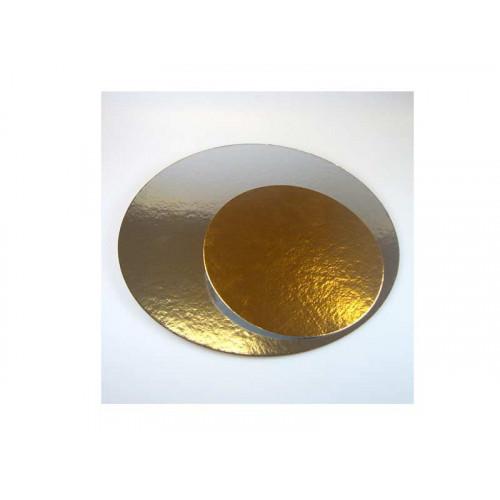 Tårtbricka guld och silver, 26 cm
