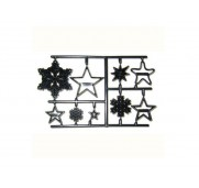 Utsickare/embossers, Snowflake and stars - Patchwork Cutters