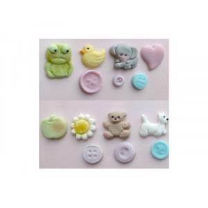Karen Davies Silikonform, Baby button mould