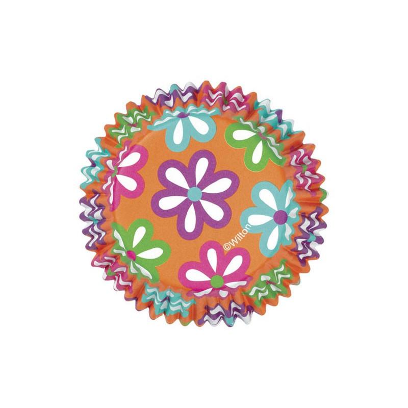 Muffinsform Color Cups, Flowers - Wilton
