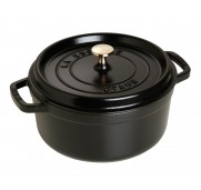Gjutj&auml;rnsgryta rund, svart 24 cm - Staub