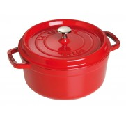 Gjutj&auml;rnsgryta rund, r&ouml;d 24 cm - Staub