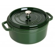 Gjutj&auml;rnsgryta rund, gr&ouml;n 24 cm - Staub