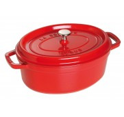 Gjutj&auml;rnsgryta oval, r&ouml;d 29 cm - Staub