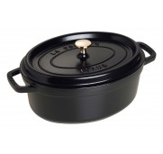 Gjutj&auml;rnsgryta oval, svart 29 cm - Staub