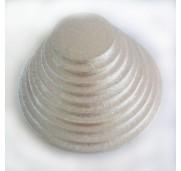 Tårtbricka silver, 22,5 cm - FunCakes