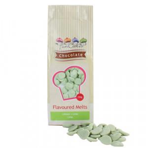 FunCakes Chocolate Melts, grön, limesmak, 250 g