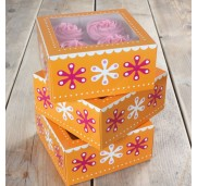 FunCakes Cupcake box, Flower Power, 3 st