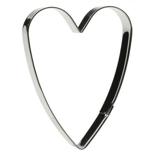Pepparkakshjärta - stramt 11 cm