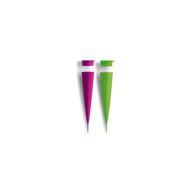Lékué Glassformar, pop up, grön och cerise
