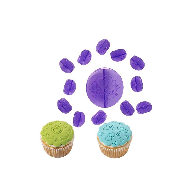 Wilton Cupcake Dekorationsset, Hjärtan