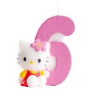 Hello Kitty Tårtljus, Sifferljus, 6