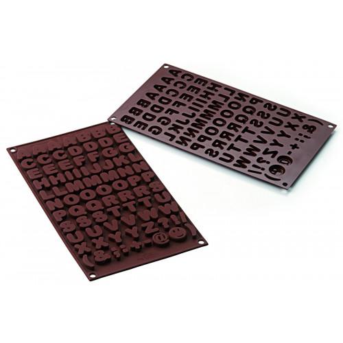Silikomart Silikonform Chokladform, Choco ABC, Bokstäver