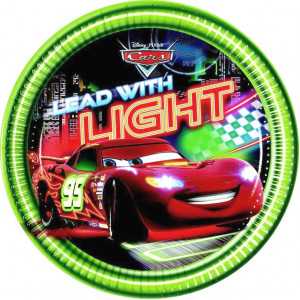 Disney Papperstallrikar, Cars, Lead with light