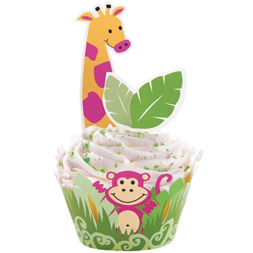 Wilton Cupcake Wrap Kit, Jungle Pals
