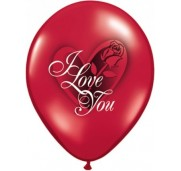 Qualatex Ballonger I love you, red rose
