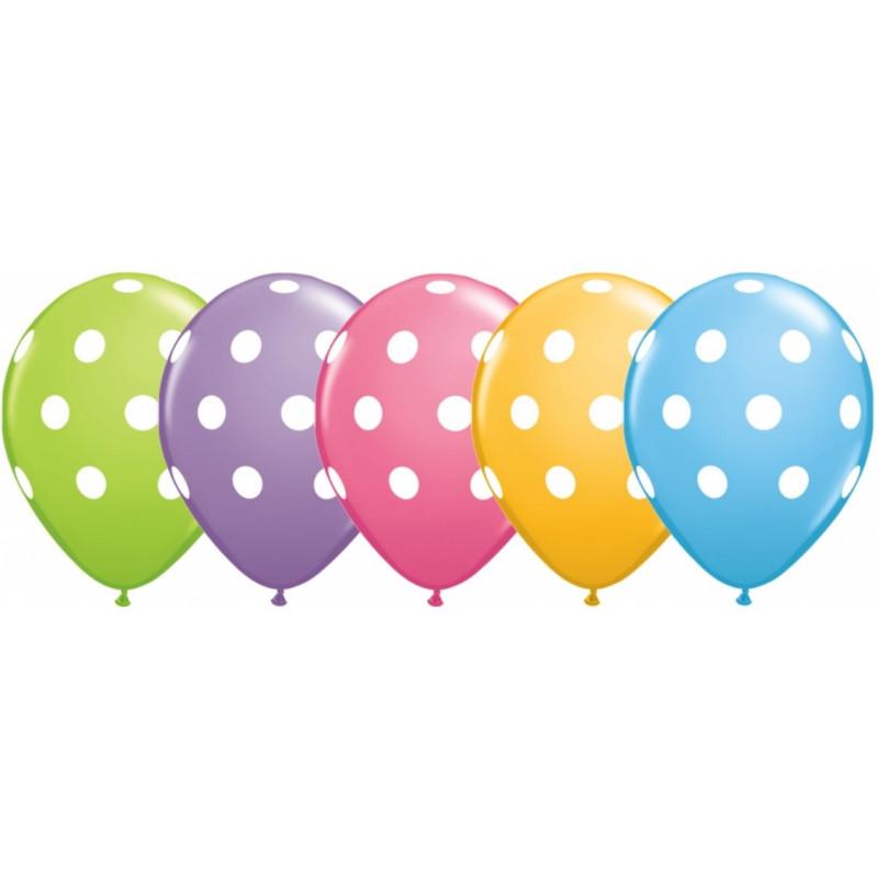 Qualatex Ballonger Big Polka Dots