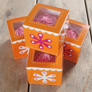 FunCakes Cupcake box, Flower Power, 4 st