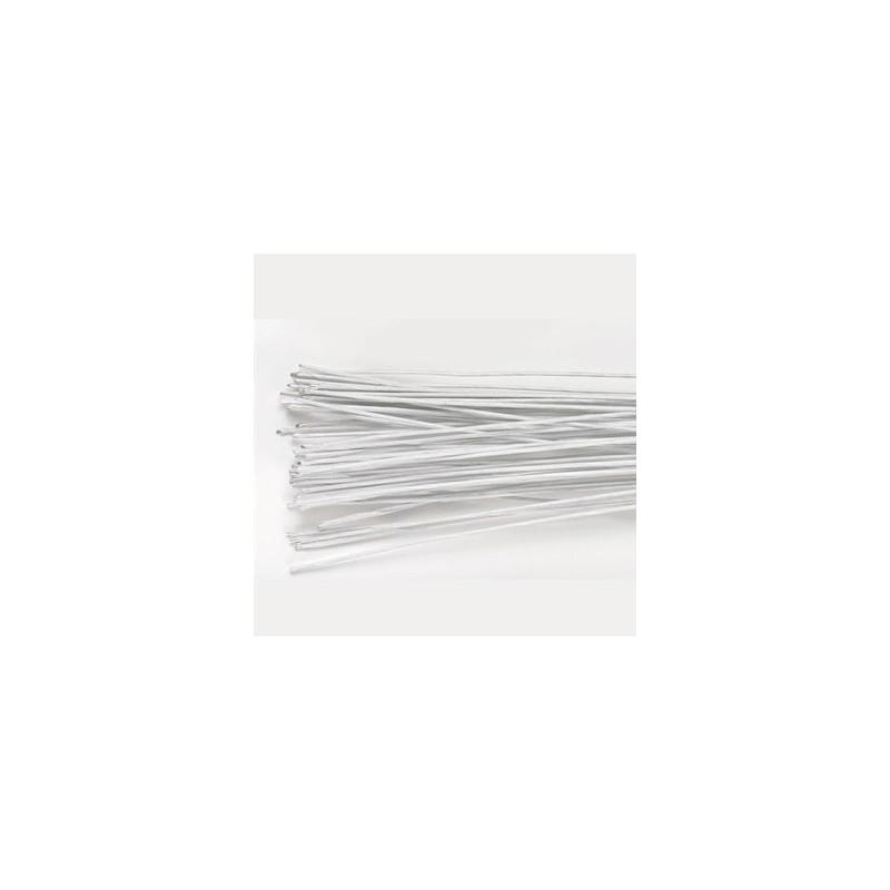 Culpit Gum paste wire, metalltråd, vit, 0,25 mm