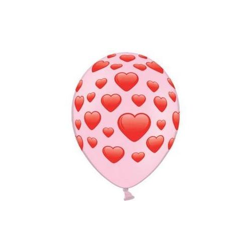 Ballonger rosa, hjärtan