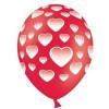 Ballonger röda, hjärtan