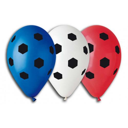 Ballonger Fotbollar, blandade färger