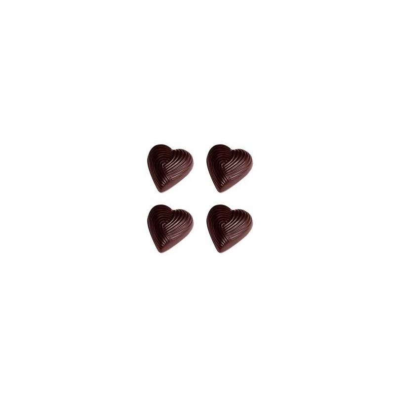 Chocolate World Pralinform Hjärta med ränder
