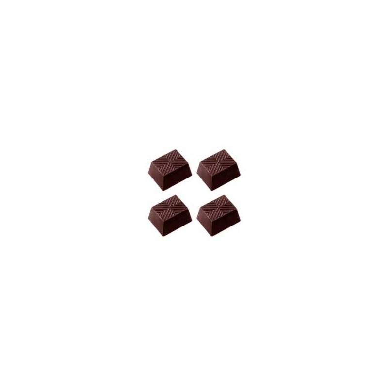 Chocolate World Pralinform Randig rektangulär