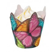 Wilton Muffinsform Multicolor Butterfly
