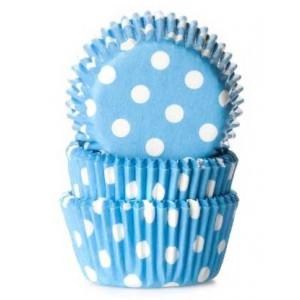 House of Marie Minimuffinsform Polkadot Aqua Blue