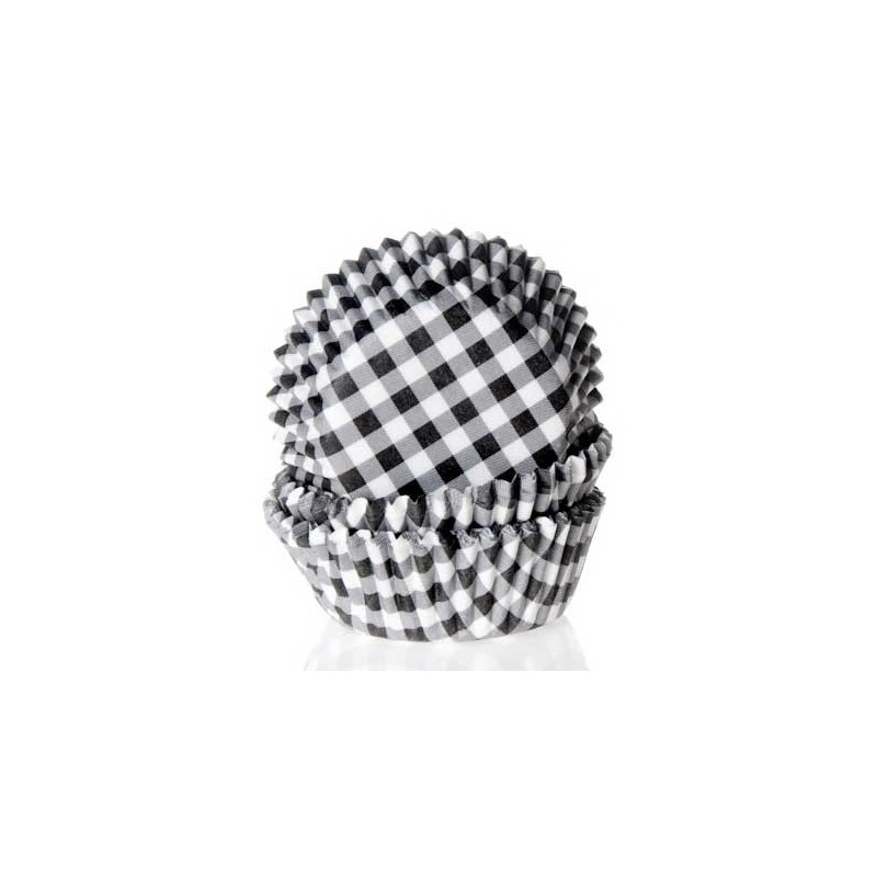 House of Marie Minimuffinsform, Gingham Black