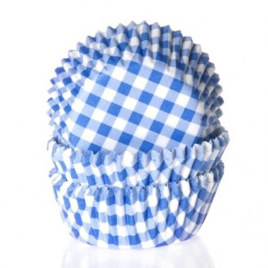 House of Marie Minimuffinsform Gingham Blue
