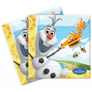Disney Servetter Frozen, Olaf, gula
