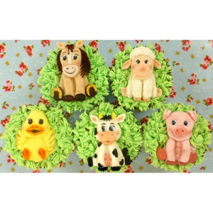 Karen Davies Silikonform Farm Animals