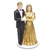 Städter Tårtdekoration Brudpar, guldbröllop