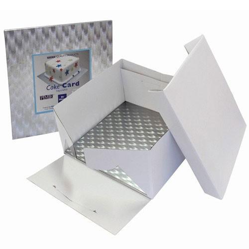 PME Tårtkartong med kvadratisk tjock bricka, 25 cm
