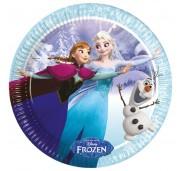 Disney Papperstallrikar Frozen, skridskor