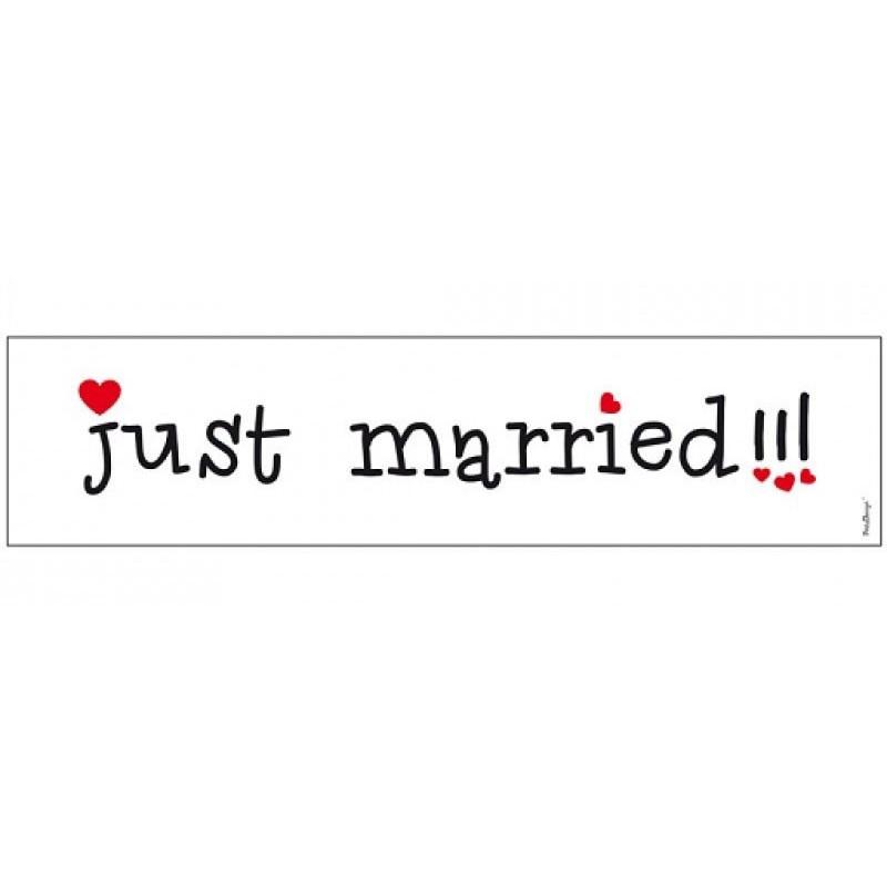 Skylt Just Married