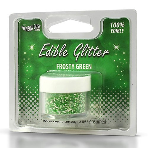 Rainbow Dust Ätbart glitter, Frosty Green