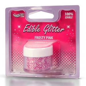 Rainbow Dust Ätbart glitter, Frosty Pink