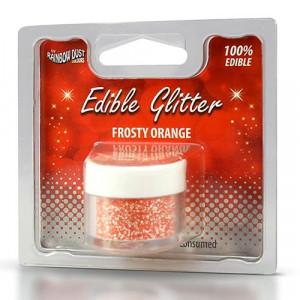 Rainbow Dust Ätbart glitter, Frosty Orange