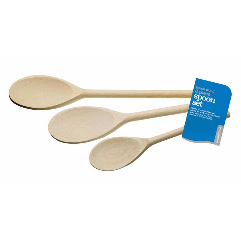 Kitchen Craft Grytsked 3-pack, bokträ