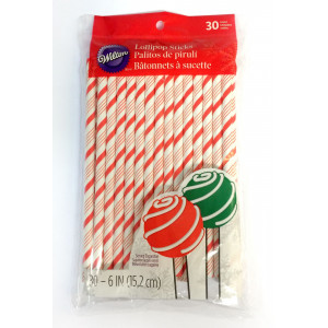 Wilton Sugrör Cake pop-pinnar, candy cane