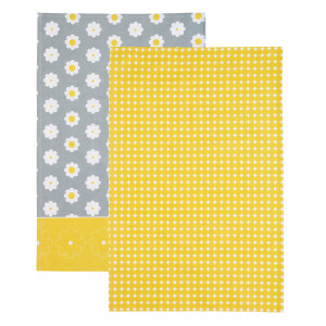 Kitchen Craft Kökshandduk Retro Flower, 2-pack